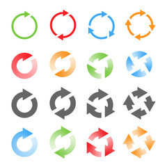 Rotating Arrows Set. Vector Illustration
