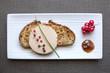 canvas print picture - Foie gras sur Plateau