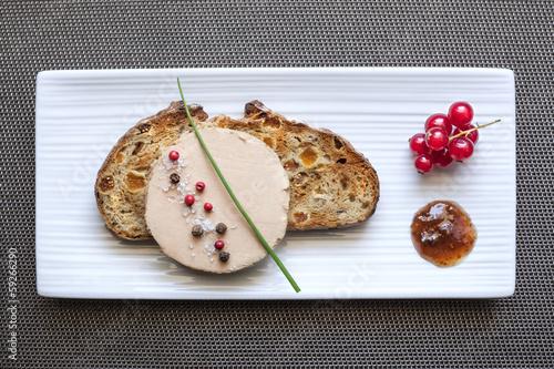 canvas print picture Foie gras sur Plateau