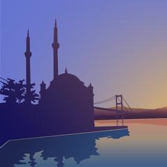Ortaköy camii ve Boğaziçi köprüsü