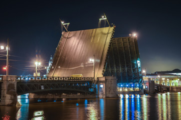 bascule bridge in saint petersburg