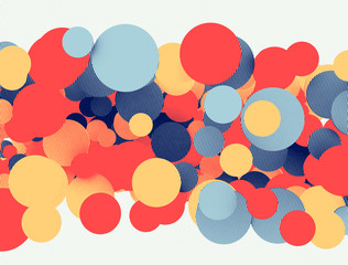 Colored circles 3d
