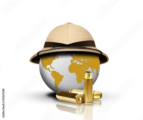 Pith Helmet with bullets and Globe