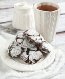 Chocolate Crinkles. Chocolate cookies in powdered sugar. poster
