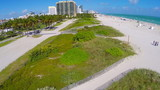 Aerial footage of Miami Beach