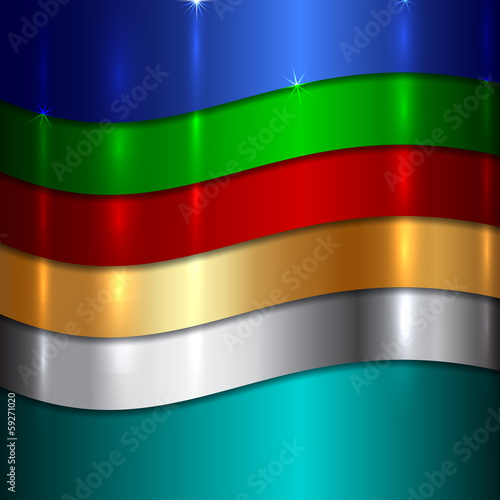 Vector Abstract Metallic multicolor background