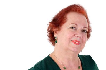 Senior Lady Looking at you Kindly