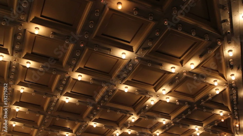 Theater Ceiling with Retro Flashing Marquee Lights 1080p