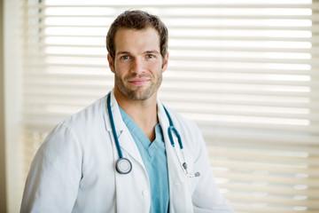 Handsome Cancer Specialist With Stethoscope Around Neck