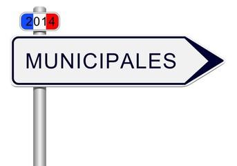 Panneau direction municipales