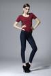 Full body Portrait of fashion model posing
