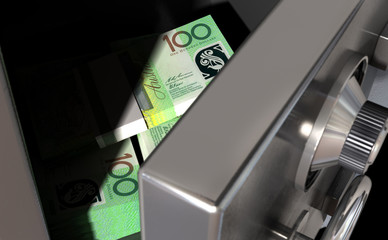 Open Safe With Australian Dollars