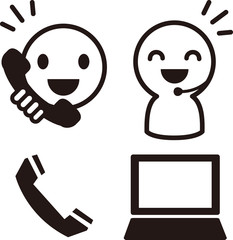 電話受付のアイコン