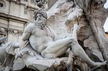 Statue of Piazza Navona. Rome