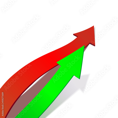 Business Graph,  arrow vector illustration