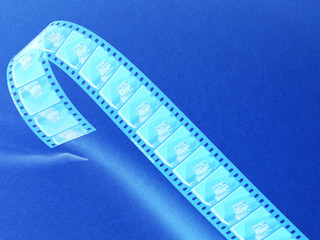 Negative film reel blue toned