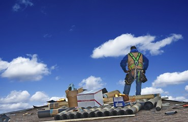 Construction Roofer Worker