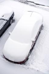 Vehicle Under Snow