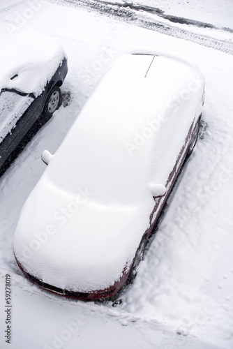 Vehicle Under Snow