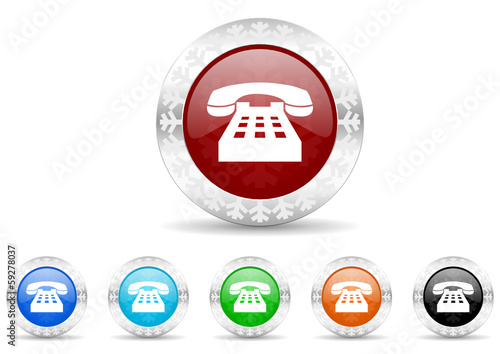 phone icon vector set