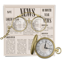 Vector Retro Newspaper Concept