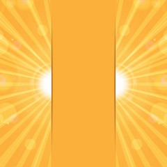 orange sunny background.sun rays and glare on an orange backgrou