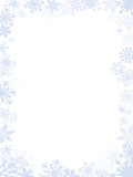Fototapety Blueish Christmas card frame and background