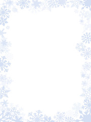 Blueish Christmas card frame and background