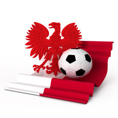 poland coast of arm flag soccer football