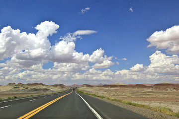 the painted desert road, Arizona
