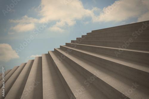 Steps against blue sky