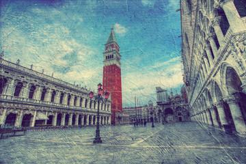 Venice. Italy. Picture in artistic retro style.