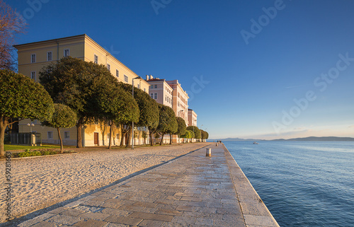 embankment in Zadar. Ctroatia.