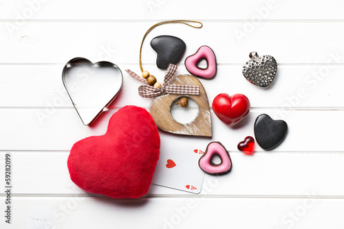 valentine hearts of various types