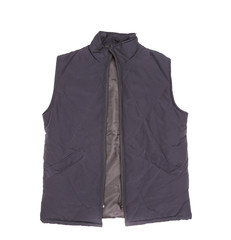 Black working winter vest.
