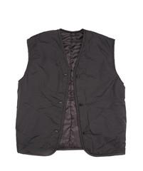 Black working winter vest.