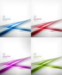 Set of abstract motion lines design templates