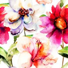 Seamless wallpaper avec des fleurs