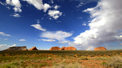 arc en ciel sur le painted desert ,Arizona