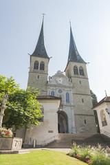 Luzern, historische Altstadt, Stiftskirche, Schweiz