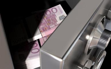 Open Safe With Euros