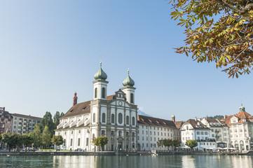 Luzern, historische Altstadt, Jesuitenkirche, Reuss, Schweiz