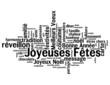 """Nuage de Mots """"JOYEUSES FETES"""" (joyeux noël bonne année fêtes)"""