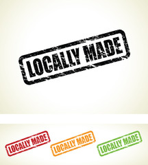 set of locally made stamps