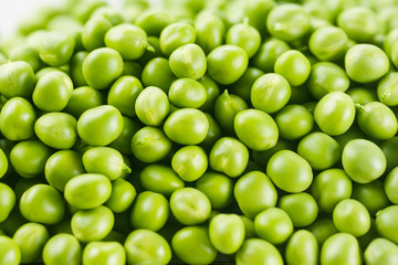 Green Peas background. Vegetable texture