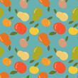 Seamless apple and pear vector pattern