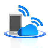 cloud, backup, handy, tablet,