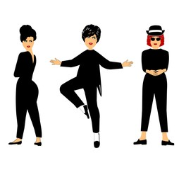 3 ladies posing
