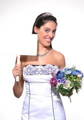 Novia feliz por que se casa.