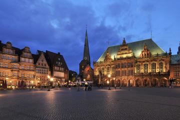 Bremen citycenter with city hall